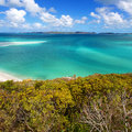 Whitsunday islands whitehaven beach in the in australia Stock Images