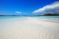 Whitsundays whitehaven beach in the whitsunday islands in australia Royalty Free Stock Photos