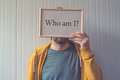 Who am I, self-knowledge concept Royalty Free Stock Photo