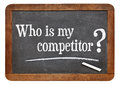 Who is my competitor question on a vintage slate blackboard Royalty Free Stock Images