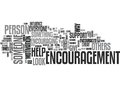 Who Needs Encouragement Word Cloud