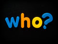 Who question grammar word concept Royalty Free Stock Photography