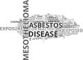 Who Is At Risk For Mesothelioma Word Cloud