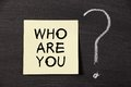Who Are You ? Royalty Free Stock Photo