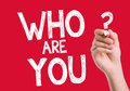 Who Are You written on wipe board Royalty Free Stock Photo