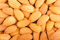 Whole almond nuts closeup Royalty Free Stock Photo