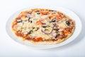 Whole baked pizza Royalty Free Stock Photo