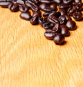 Whole brown coffee beans Royalty Free Stock Photos