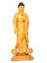 A whole buddha statue isolated white Royalty Free Stock Photo