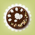 Whole chocolate cake Royalty Free Stock Photo