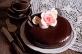 Dark Chocolate cake Royalty Free Stock Photo