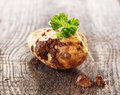 Whole earthy farm fresh potato Royalty Free Stock Photos