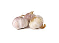 Whole garlic bulb on white background Stock Photo