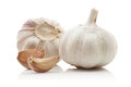 Whole Garlic, Cloves, Isolated Royalty Free Stock Image