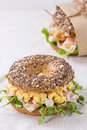 Whole Grain bagel Royalty Free Stock Photo