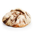 Whole grain bread fresh on white background Royalty Free Stock Images