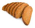 Whole grain bread on white background Stock Photography