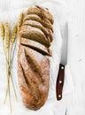Whole Grain Bread On Wooden Ba...