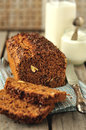 Whole grain cake loaf good as breakfast snack Royalty Free Stock Image