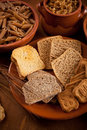 Whole grain carbohydrates Royalty Free Stock Image