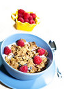Whole grain cereals with strawberry Royalty Free Stock Photography