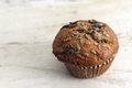 Whole grain muffin a healthy breakfast Stock Image