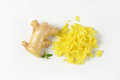 Whole and grated ginger Royalty Free Stock Photo