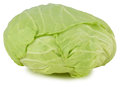 Whole green cabbage isolated on white Royalty Free Stock Photo