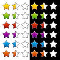 Whole half and blank rating stars Royalty Free Stock Photography