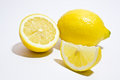 Whole and half lemon Royalty Free Stock Photo