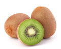 Whole kiwi fruit and his segments Royalty Free Stock Image
