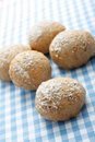 Whole meal bread rolls Stock Photo