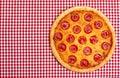 Whole Pepperoni Pizza Royalty Free Stock Photo
