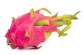 Whole pitahaya dragon fruit over white background Royalty Free Stock Photography