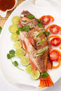 Whole Roasted Wild Rockfish Royalty Free Stock Images