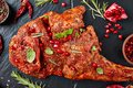 Whole shoulder of a lamb, top view Royalty Free Stock Photo