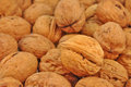 Whole walnut close up pile of walnuts Royalty Free Stock Photos