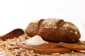 Whole wheat bread baked at home, bio ingredients, heathy lifesty Royalty Free Stock Photo