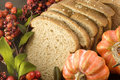 Whole Wheat Bread with Fall Setting Royalty Free Stock Image