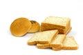 Celý pšenice chléb a plný houska