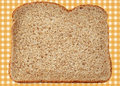 Whole wheat bread fresh and nutritious on abstract gingham background Stock Photo