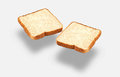 Whole wheat bread slices Stock Images