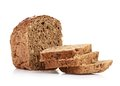 Whole wheat bread on white background see my other works in portfolio Stock Photos