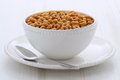 Whole wheat cereal loops Stock Photo