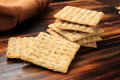Whole wheat crackers Stock Photos