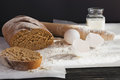 Whole wheat homemade bread, bio ingredients, healthy food Royalty Free Stock Photo