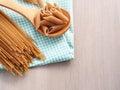 Whole wheat pasta Royalty Free Stock Photo
