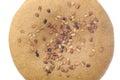 Whole-Wheat Sesame Seed Bun on White Background Stock Photos