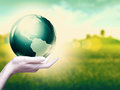 Whole world in your hands abstract environmental backgrounds Stock Photos