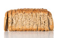 Wholegrain bread seeded slices isolated on a white background Royalty Free Stock Image